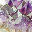 Crystal Stone, purple rough amethyst crystals. — Stock Photo #52428583