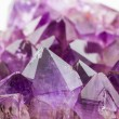 Crystal Stone, purple rough amethyst crystals. — Stock Photo #53008525