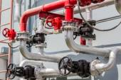Steel pipelines and valves.  — Stock Photo
