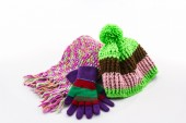 Collection Winter with accessories. — Stock Photo