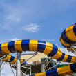 Colorful slides of the aquapark. — Stock Photo #55669651