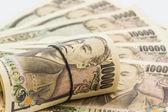 Japanska yen sedlar. — Stockfoto