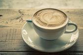 Cappuccino or latte coffee . — Stock Photo