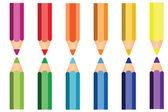 Colorful of pencils icon. — Stock Vector