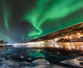 The polar lights in Norway — Stock Photo