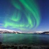 The polar lights in Norway — Stockfoto
