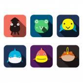 Animals user design — Stock Vector