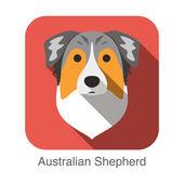 Australian shepherd dog — Stock Vector