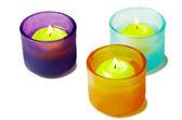 Glass candlesticks — Stockfoto