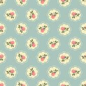Classic wallpaper seamless vintage rose pattern — Stok Vektör