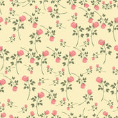 Beautiful vintage rose pattern — Stok Vektör