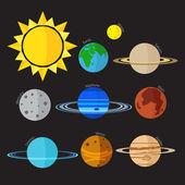 Векторный icon солнечной системы — Cтоковый вектор