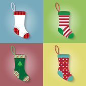 Flat style of Christmas sock — Stock Vector