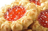 Jam cookies close up — Stock Photo