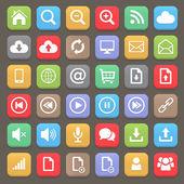 Web and internet flat icon set. Vector element — Vector de stock