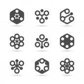 Abstract icon template for business. Vector — 图库矢量图片