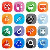 Trendy Flat science icons. Vector elements — Stock Vector