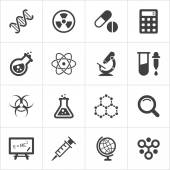 Trendy science icons on white. Vector — 图库矢量图片