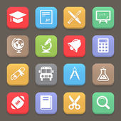 Education icons for web or mobile. Vector — Stockvector
