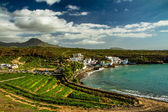 View on Green Shore of Atlantic Ocean-Tenerife — Stock Photo