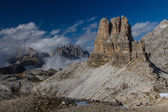 Dolomites Massive Mountain-Dolomites,Tirol,Italy — Stock Photo