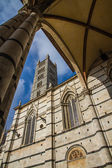 Siena Cathedral Tower through Arch-Siena,Italy — Stock Photo