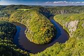 Meander of Vltava River  - Teletin, Czech Republic — Stock Photo