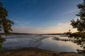 Rozmberk pond during sunset-Trebon,Czech republic — Stock Photo