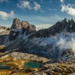 Monte Paterno with Blue Lakes-Tre Cime,Dolomites — Stock Photo #63302903
