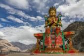 Big Sitting Buddha-Diskit Monastery,Ladakh,India — Stockfoto