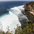 View of Big Ocean Waves and Cliff-Bali, Indonesia — Stock Photo #63582693