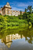 Water Reflection of Castle-Pruhonice,Czech Rep. — Stock Photo