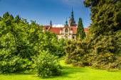 View of Castle Tower-Pruhonice,Czech Rep. — Stock Photo