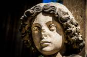 Enlightened bust of angel-Valtice,Czech Rep. — Stock Photo
