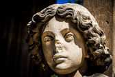 Enlightened bust of angel-Valtice,Czech Rep. — Stock Photo