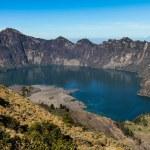 Active Jari Baru Volcano and Lake - Mt.Rinjani,Lombok, Asia — Stock Photo #65931235