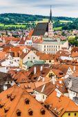 Church of St. Vitus-Cesky Krumlov,Czech Repubblic — Stock Photo