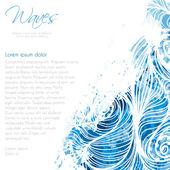 Water waves card — Vector de stock