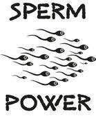 Sperms seamen fun — Stock Vector