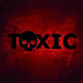 Giftige achtergrond met schedel — Stockfoto
