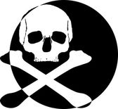 Skull logo icon — Stockfoto