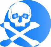 Skull logo icon — Stock Photo