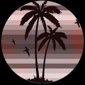 Palm beach retro logo — Stok fotoğraf