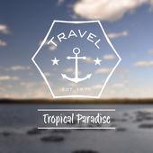 Travel tropical paradise hipster retro logo — Stock Photo