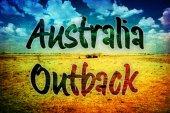 Australian Outback vintage postcard — Stockfoto