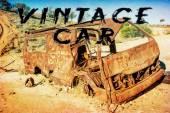 Vintage car in australia — Stockfoto