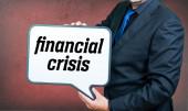 Financial crisis businessman — Stock Photo