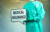 Medical insurance and doctor — Stock Photo