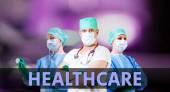 Gezondheidszorg achtergrond met artsen — Stockfoto