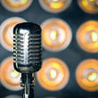 Old-fashioned  Vintage microphone — Stock Photo #76168813